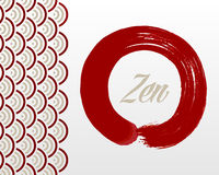 Fond de cercle de zen Photo libre de droits