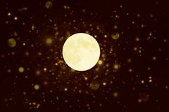 Fond de cercle focalisé par De avec la lune Photographie stock libre de droits