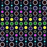Fond de cercle Patern pointillé coloré Conception graphique de mode géométrique Illustration de vecteur Texture abstraite élégant illustration stock