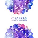 Fond de chakras d'aquarelle Photo libre de droits