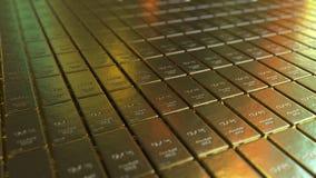 Fond de chambre forte de barres d'or rendu 3d Photo libre de droits
