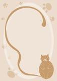 Fond de chat de dessin animé Images stock