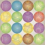 Fond de Chistmas avec des cercles de couleur Photo stock