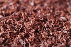 Fond de chocolat râpé par amende Photographie stock libre de droits