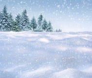 Fond de chute de neige de l'hiver Photo libre de droits