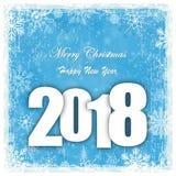fond de chute de neige pendant Noël et la nouvelle année 2018 Photographie stock libre de droits