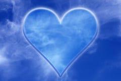 Fond de ciel avec la valentine Image libre de droits