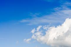 Fond de ciel bleu Photo libre de droits
