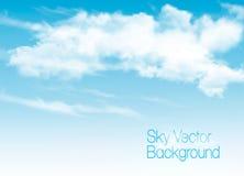Fond de ciel bleu avec les nuages transparents blancs illustration libre de droits