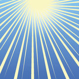 Fond de ciel bleu Concept de Sun Photos stock