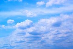 Fond 171015 0055 de ciel bleu et de nuages Image libre de droits