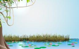 Fond de ciel bleu illustration stock