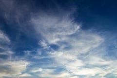 Fond de ciel de coucher du soleil Photos stock