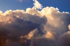 Fond de ciel de coucher du soleil Photo libre de droits