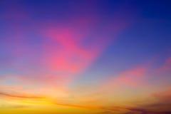 Fond de ciel de coucher du soleil de nuage de Textur Images libres de droits