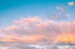 Fond de ciel et de nature de nuages Images libres de droits