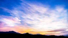 Fond de ciel sur le coucher du soleil Photo stock
