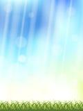 Fond de ciel vert et bleu illustration stock