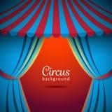 Fond de cirque de vecteur avec la tente ouverte Photographie stock libre de droits