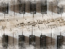 Fond de clavier de piano Photographie stock libre de droits