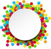 Fond de célébration de confettis Images stock