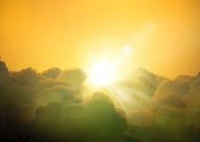 Fond de cloudscape d'imagination d'art Photos libres de droits