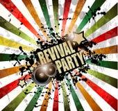 Fond de club de musique pour l'événement de danse de disco Photos stock