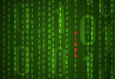 Fond de code binaire de VECTEUR, concept de virus informatique illustration libre de droits