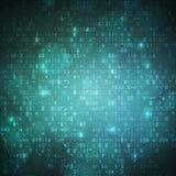 Fond de code de données numériques d'ordinateur de technologie Photographie stock