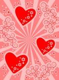 Fond de coeur Photos stock