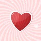 Fond de coeur Photo libre de droits