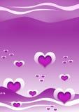 Fond de coeur Image stock