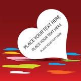 Fond de coeur Images libres de droits