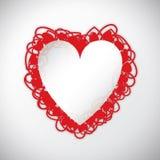Fond de coeur d'amour de Saint-Valentin illustration stock