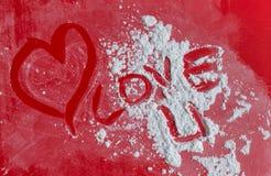 Fond de coeur d'amour, je t'aime Photographie stock