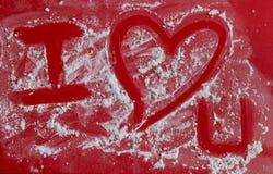 Fond de coeur d'amour, je t'aime Image libre de droits