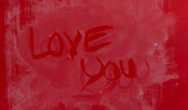 Fond de coeur d'amour, je t'aime Photo stock