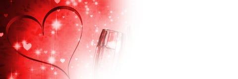 Fond de coeur d'amour de valentines Images libres de droits