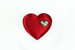Fond de coeur, d'isolement Photographie stock