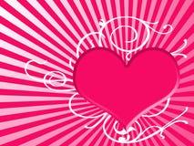 Fond de coeur dans le rose Images libres de droits