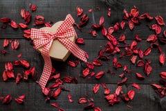 Fond de coeur de cadeau Photos libres de droits