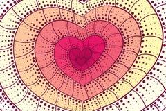 Fond de coeur de griffonnage Illustration de Vecteur