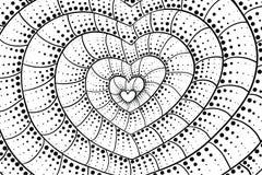 Fond de coeur de griffonnage Rebecca 36 Illustration de Vecteur