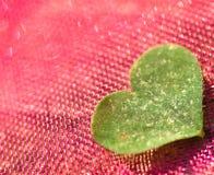 Fond de coeur de trèfle Images stock