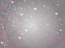 Fond de coeur de Valentines Images stock