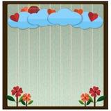 Fond de coeur de vecteur - illustration Images stock