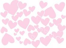 Fond de coeurs Image stock