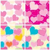 Fond de coeurs carrelé Image stock
