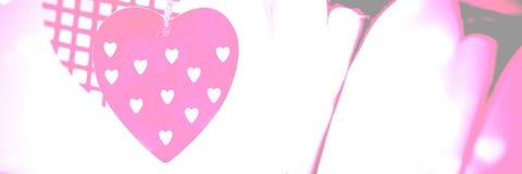 Fond de coeurs d'amour de valentines Photo libre de droits