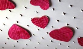 Fond de coeurs de coupe de papier Photographie stock libre de droits